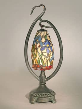 Dale Tiffany Accent San Antonio Tiffany Accent Lamp with Antique Bronze Finish Lighting