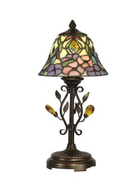 Dale Tiffany Peony Crystal Peony Accent Lamp in Antique Golden Sand Finish Lighting