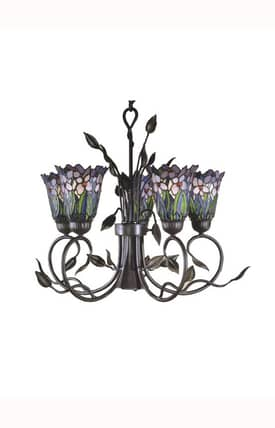 Dale Tiffany Tiffany Meadowbrook TH101051 5 Light Chandelier in Antique Bronze Finish Lighting