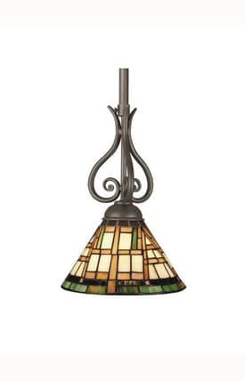 Dale Tiffany Tiffany Cresmer TH101350 Pendant in Burnish Gold Finish Lighting