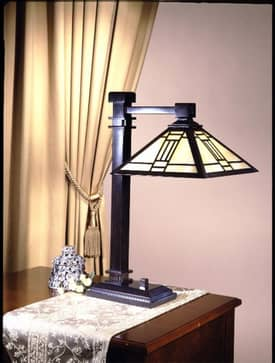Dale Tiffany Mission Noir Mission Tiffany Table Lamp with Mica Bronze Finish Lighting