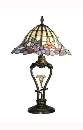 Dale Tiffany Tiffany Tiffany TT10008 Table Lamp in Dark Antique Bronze Finish Lighting