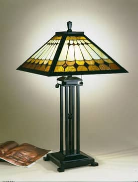 Dale Tiffany Mission Mission Tiffany Table Lamp with Mica Bronze Finish Lighting