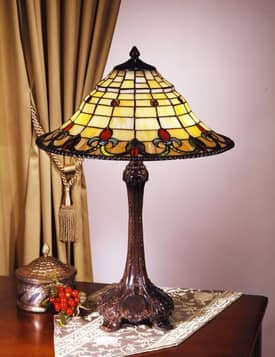 Dale Tiffany Inspirations Spencer Tiffany Table Lamp with Antique Bronze Finish Lighting