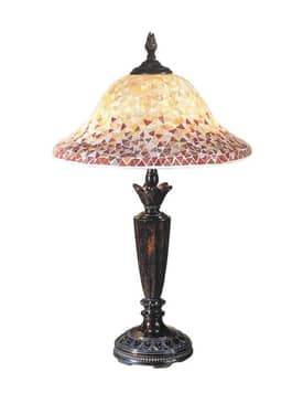Dale Tiffany Cassidy Cassidy Mosaic Table Lamp in Fieldstone Finish Lighting