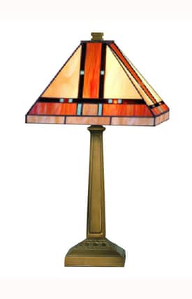 Dale Tiffany Tiffany Mission TT10090 Table Lamp in Mica Bronze Finish Lighting