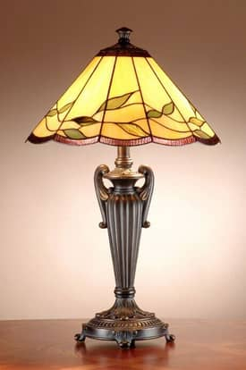 Dale Tiffany Lifestyles Falhouse Tiffany Table Lamp with Antique Bronze with Gold Finish Lighting