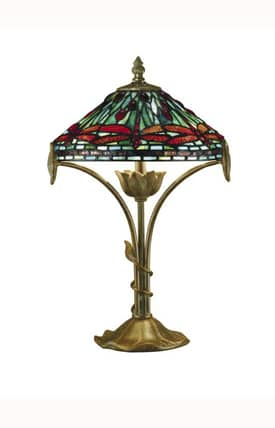 Dale Tiffany Tiffany Allegheny Tiffany TT101218 Table Lamp in Antique Bronze Finish Lighting