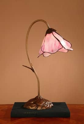Dale Tiffany Accent Poelking Tiffany Accent Lamp with Chocolate Bronze Finish Lighting