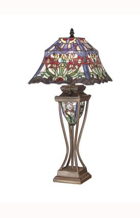 Dale Tiffany Tiffany Prickett Tiffany TT101319 Table Lamp in Bronze Finish Lighting