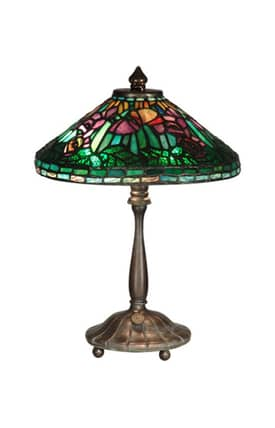 Dale Tiffany Tiffany TT10332 Poppy Shade Table Lamp Lighting
