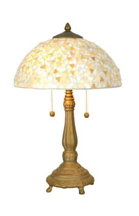 Dale Tiffany Tiffany TT11264 Clear Mosaic Table Lamp Lighting
