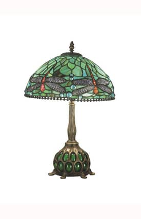 Dale Tiffany Tiffany Dragonfly TT60919 Table Lamp in Antique Bronze Finish Lighting