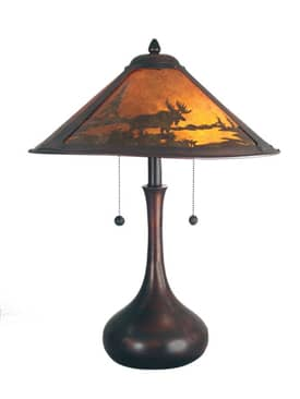 Dale Tiffany Wilderness Wilderness Table Lamp in Antique Bronze Finish Lighting