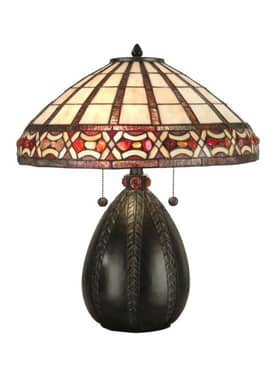 Dale Tiffany Tiffany Tiffany VIII Table Lamp in Antique Bronze Finish Lighting