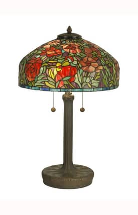 Dale Tiffany Tiffany Tiffany TT90427 Table Lamp in Dark Antique Bronze Finish Lighting