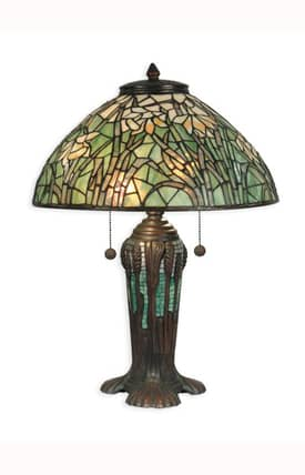 Dale Tiffany Tiffany Tiffany TT90429 Table Lamp in Antique Bronze Finish Lighting