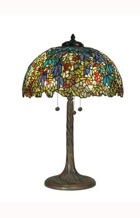 Dale Tiffany Tiffany Tiffany TT90430 Table Lamp in Antique Verde Finish Lighting