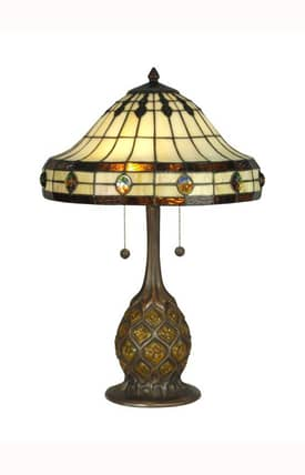 Dale Tiffany Tiffany Tiffany TT90432 Table Lamp in Antique Bronze Finish Lighting