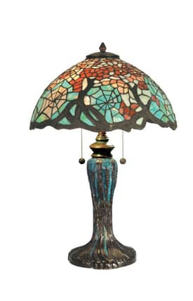 Dale Tiffany Tiffany TT90510 Cobweb Table Lamp Lighting