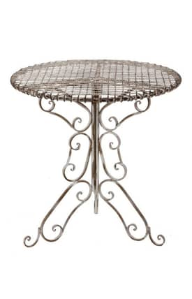 Privilege Intl. Tables Antique Iron Bistro Table Furniture