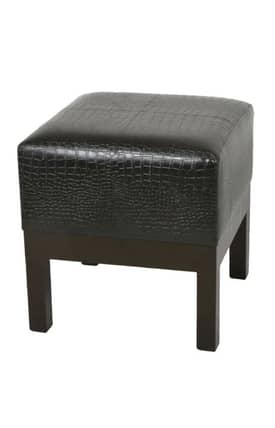 Privilege Intl. Ottomans Square Faux Leather Ottoman Furniture