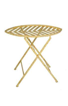 Privilege Intl. Tables Folding Iron End Table Furniture