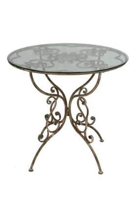 Privilege Intl. Tables Iron Bistro Table Furniture