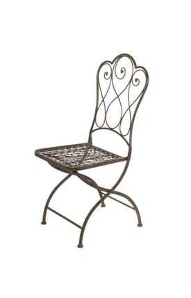 Privilege Intl. Chairs Iron Folding Bistro Chair Furniture