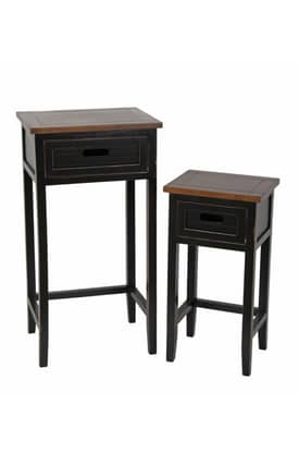 Privilege Intl. Tables 2 Piece Plant Stands Accent Tables Furniture