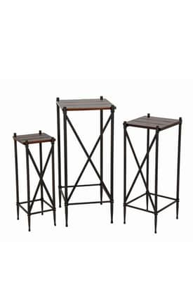 Privilege Intl. Racks 3 Piece Plant Stands Furniture
