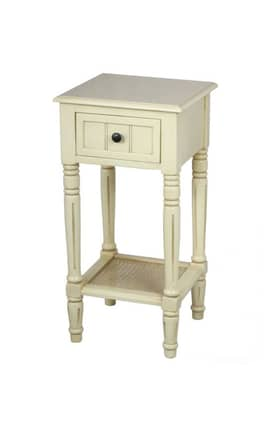 Privilege Intl. Tables Medium 1 Drawer Farmhouse Accent Table Furniture
