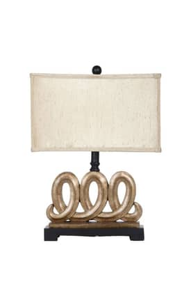 Privilege Lighting Contemporary 38075 3 Loop Table Lamp Lighting