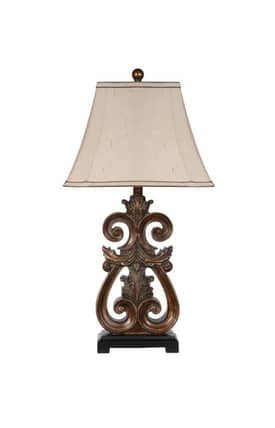 Privilege Lighting Traditional 49002 Resin Table Lamp Lighting