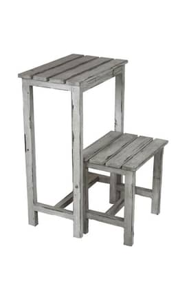 Privilege Intl. Racks Wooden Step Stand Furniture
