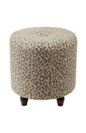 Privilege Intl. Ottomans Round Fabric Ottoman Furniture