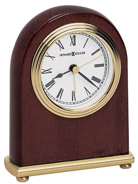 Howard Miller Alarm Clocks Rosewood Arch Alarm Clock