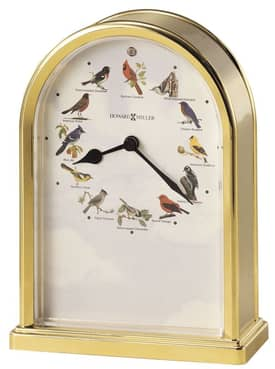 Howard Miller Musical Clocks Songbirds of North America III Table Clock