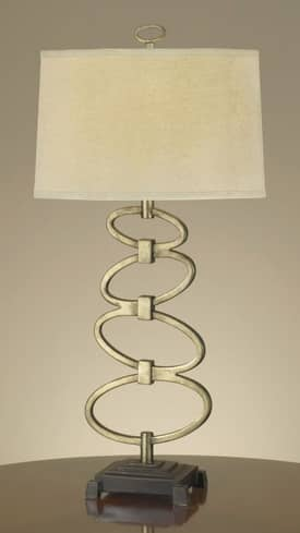Murray Feiss Geo Geo Ovals Table Lamp with Burnished Silver Finish Lighting