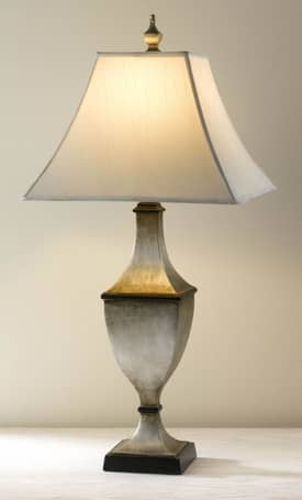 Murray Feiss Maddox Maddox 9874ESL Table Lamp in Ebonized Silver Leaf Finish Lighting