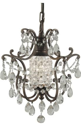 Murray Feiss Maison de Ville Maison de Ville F18791BRB 1 Light Chandelier in British Bronze Finish Lighting