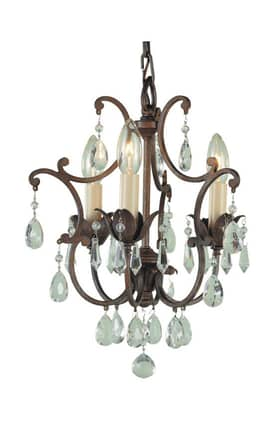 Murray Feiss Maison de Ville Maison de Ville F18803BRB 3 Light Chandelier in British Bronze Finish Lighting
