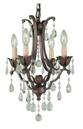 Murray Feiss Maison de Ville Maison de Ville F18814BRB 4 Light Chandelier in British Bronze Finish Lighting