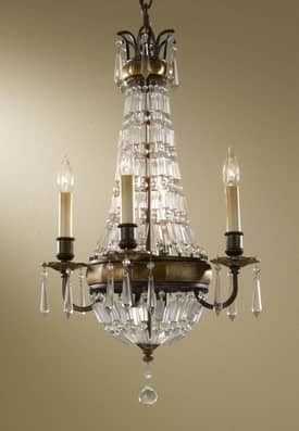 Murray Feiss Bellini Bellini F24624OBZBRB 4 Light Chandelier in Oxidized Bronze Finish Lighting
