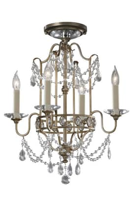 Murray Feiss Gianna Gianna F24764GS 4 Light Chandelier in Gilded Silver Finish Lighting