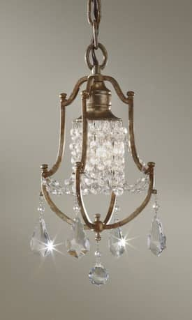 Murray Feiss Valentina Valentina F26241OBZ 1 Light Chandelier in Oxidized Bronze Finish Lighting