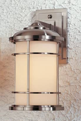 Murray Feiss Lighthouse Lighthouse OL2202BS Outdoor Wall Sconce in Brushed Steel Finish Lighting
