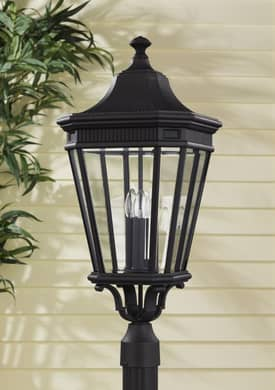 Murray Feiss Cotswold Lane Cotswold Lane OL5408BK Outdoor Lantern in Black Finish Lighting