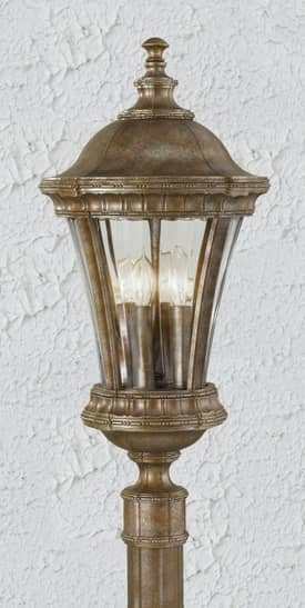 Murray Feiss Alden Alden OL6308BRB Outdoor Post Lantern in British Bronze Finish Lighting