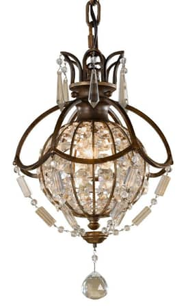 Murray Feiss Bellini Bellini P1178OBZBRB 1 Light Pendant in Oxidized Bronze Finish Lighting